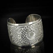 Серебряный кубачинский браслет белый арт.5784