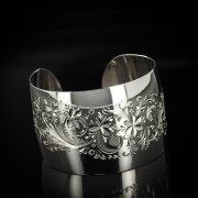 Серебряный кубачинский браслет белый арт.5792