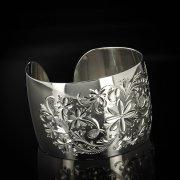 Серебряный кубачинский браслет белый арт.5794