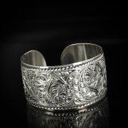 Серебряный кубачинский браслет белый арт.5796