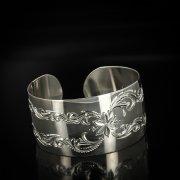 Серебряный кубачинский браслет белый арт.5799