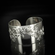 Серебряный кубачинский браслет с гравировкой арт.5801