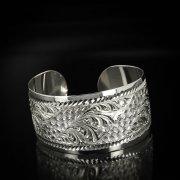 Серебряный кубачинский браслет с гравировкой арт.5803