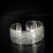 Серебряный кубачинский браслет белый арт.5804