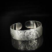 Серебряный кубачинский браслет белый арт.5809
