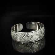 Серебряный кубачинский браслет белый арт.5812