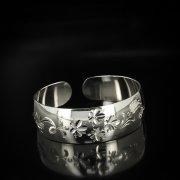 Серебряный кубачинский браслет белый арт.5818