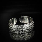 Серебряный кубачинский браслет с чернением арт.5825
