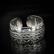 Серебряный кубачинский браслет широкий арт.5828