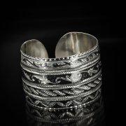 Серебряный кубачинский браслет широкий арт.5829