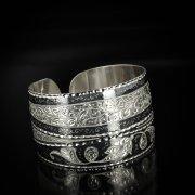 Серебряный кубачинский браслет широкий арт.5830