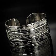 Серебряный кубачинский браслет широкий арт.6236