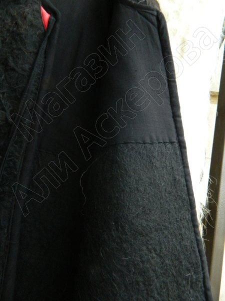 Кавказская бурка ворсистая войлочная черного цвета