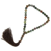 Четки Индийская яшма ручная работа (натуральный камень, 33 бусины) арт.9396