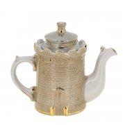 """Фарфоровый чайник """"Крепость"""" ручной работы арт.8935"""