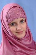 """Мусульманский хиджаб-двойка """"Шехерезада"""" с вышивкой"""