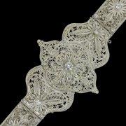 Кавказский свадебный пояс ручной работы мастера Чермена Ахмедова (филигрань)