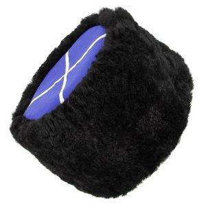 Казачья кубанка черная (овчина, ручная выделка, высота 15 см, размерная утяжка) арт.4999 - фото 1