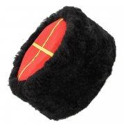 Казачья кубанка черная (овчина, ручная выделка, высота 12 см, размерная утяжка) арт.5001