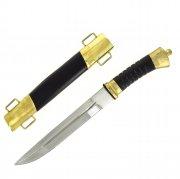 Нож пластунский сталь 95Х18 (латунь, в наборе - подвес и чехол) арт.4462