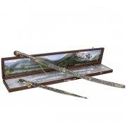 Кубачинский подарочный набор в футляре (шашка и кинжал с серебряными вставками) арт.7582