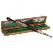 Кавказский кинжал с цельной рукоятью (сталь - кованая, родовое клеймо, рукоять - дерево) арт.9407