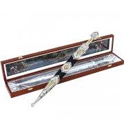Кубачинский подарочный набор №24: серебряный кинжал в футляре