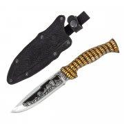 "Кизлярский нож туристический ""Варан"" (сталь - 65Х13, рукоять - дерево) арт.2083"