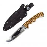"""Кизлярский нож туристический """"Викинг"""" (сталь - 65Х13, рукоять - дерево) арт.2084"""