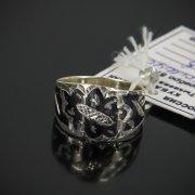 Кубачинское серебряное кольцо с чернением ручной работы арт.7631