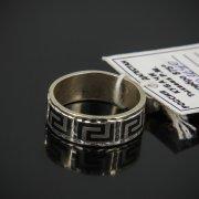 Кубачинское серебряное кольцо с чернением ручной работы арт.7633