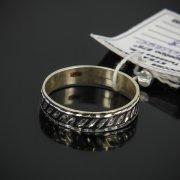 Кубачинское серебряное кольцо с чернением ручной работы арт.7634