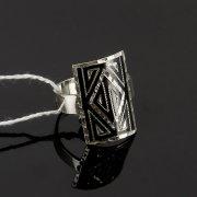 Кубачинское серебряное кольцо с чернением ручной работы арт.7831