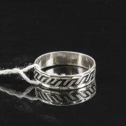 Кубачинское серебряное кольцо с чернением ручной работы арт.7833