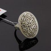 Кубачинское серебряное кольцо с филигранью ручной работы арт.8134