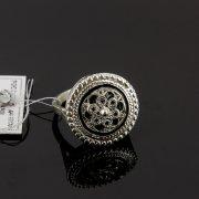 Кубачинское серебряное кольцо с филигранью ручной работы арт.8138