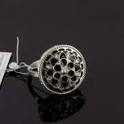 Кубачинское серебряное кольцо с филигранью ручной работы арт.8139