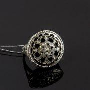 Кубачинское серебряное кольцо с филигранью ручной работы арт.8140