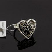 Кубачинское серебряное кольцо с филигранью ручной работы арт.8141