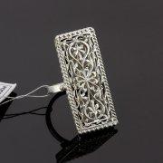 Кубачинское серебряное кольцо с филигранью ручной работы арт.8151