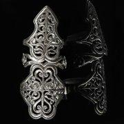 Кубачинское серебряное кольцо с филигранью ручной работы арт.8594