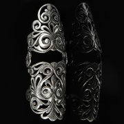Кубачинское серебряное кольцо с филигранью ручной работы арт.8595