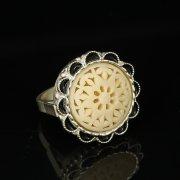 Кубачинское серебряное кольцо с филигранью ручной работы арт.9418