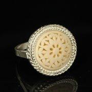 Кубачинское серебряное кольцо с филигранью ручной работы арт.9426