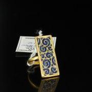 Кубачинское серебряное кольцо ручной работы арт.5508