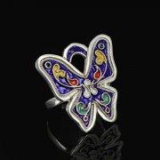 Кубачинское серебряное кольцо с эмалью ручной работы арт.8699