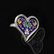 Кубачинское серебряное кольцо с эмалью ручной работы арт.8700