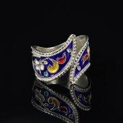 Кубачинское серебряное кольцо с эмалью ручной работы арт.8706