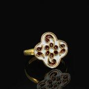 Кубачинское серебряное кольцо с эмалью ручной работы арт.8715