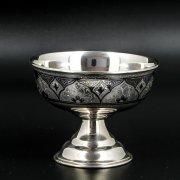 Серебряная креманка Кубачи ручной работы арт.8680